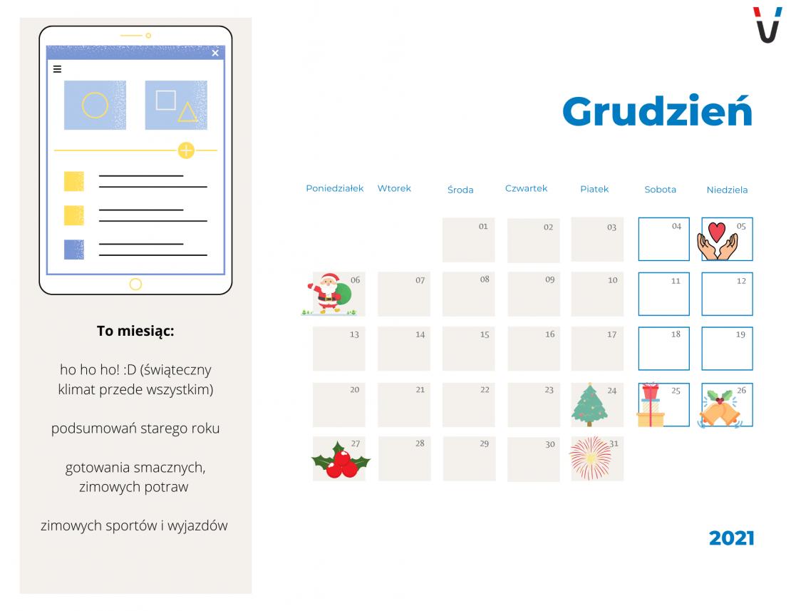 kalendarz marketingowy grudzień 2021